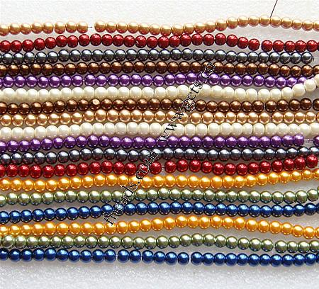 Glass Pearl 12mm glass pearl round beads