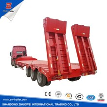 3 Axles 60T Hot Sale Low Bed Semi Trailer for transport excavator/crane/transformer