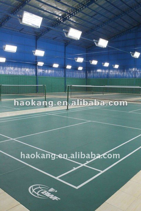 PVC /vinyl /plastic /rubber badminton court floor and surface