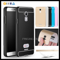 Luxury metal aluminum bumper + hard pc back cover for Coolpad note 3 phone case