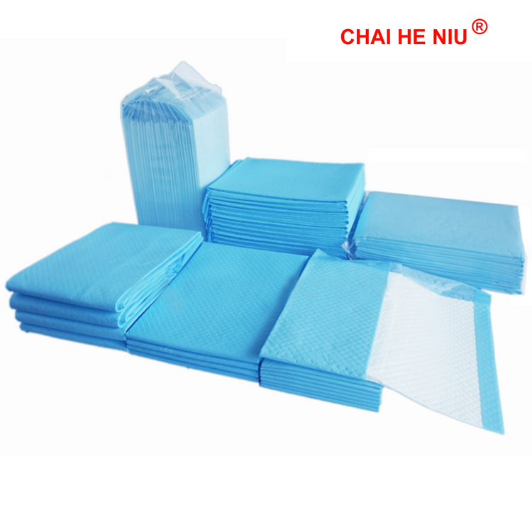 Blue disposable adult medical underpad