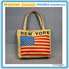 Wholesale / Custom Cartoon America flag Women Cute Casual Lady Canvas Handbag Tote Shoulder Messenger Bag in stock