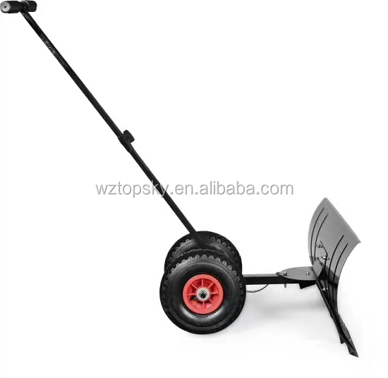 Hand Pushed Snow Blade / Manual Snow Shovel with Wheels