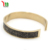 2017 new design fancy black crystal fashion 18K gold plated crystal bangle for women