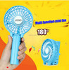 2016 Newest 18650 lithium battery Handheld portable usb mini rechargeable fan with LED light