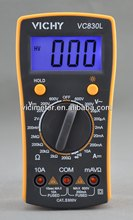 VC830L CE certified manual range digital multimeter
