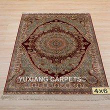 Good quality 4*6ft 260lines turkish silk rugs for sale