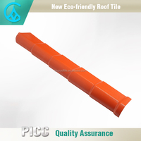 Colored pvc plastic roof tile edging