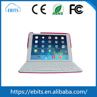 Factory directly selling top quality universal bluetooth wireless leather case tablet pc rechargeable keyboard for ipad
