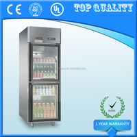 Double Glass Door Upright Display Refrigerator,Hotel Restaurant Showcase Chiller