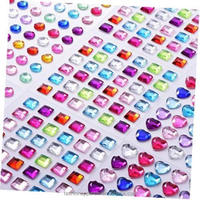 Wholesale Multicolor Self Adhesive Acrylic Gem Rhinestone Crystal Sticker Sheets Decorative Window/Wall/Car/Cup