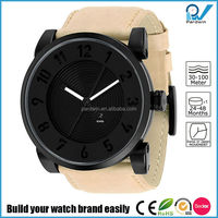 10ATM waterproof arabic numerals marks double Deep press pattern watch