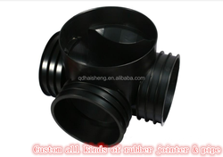 Custom three way rubber pipe joint/jointer/pipe tee rubber joints