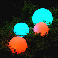 PBB-200 outdoor color changing plastic solar ball waterproof solar lighting globe