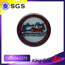 Soft enamel honor flight challenge xoin with aircraft logo