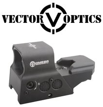 Vector Optics Tactical 8 Reticles Reflexible Red Green Dot Sight Gun Scope with QD Picatinny Mount Rechargeable Battery