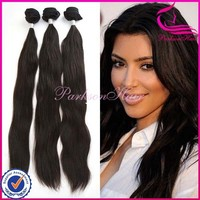 On sale top quality cheap human hair extension 100% virgin hair brazilian straight weave sew in human hair extensions
