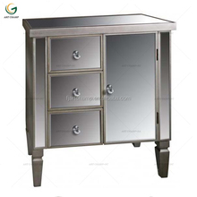 mirrored chest of 3 drawers with door cabinet for living room