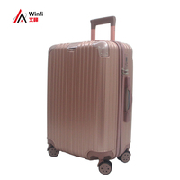 New Fashion High Quality 20'' 24'' ABS PC Trolley Bag Business Travel Luggage Suitcase with Silence Spinner Caster Wheels