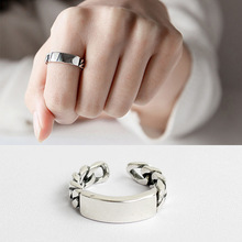 Wholesale Good Quality Arc Square Finger Ring 925 Sterling <strong>Silver</strong>