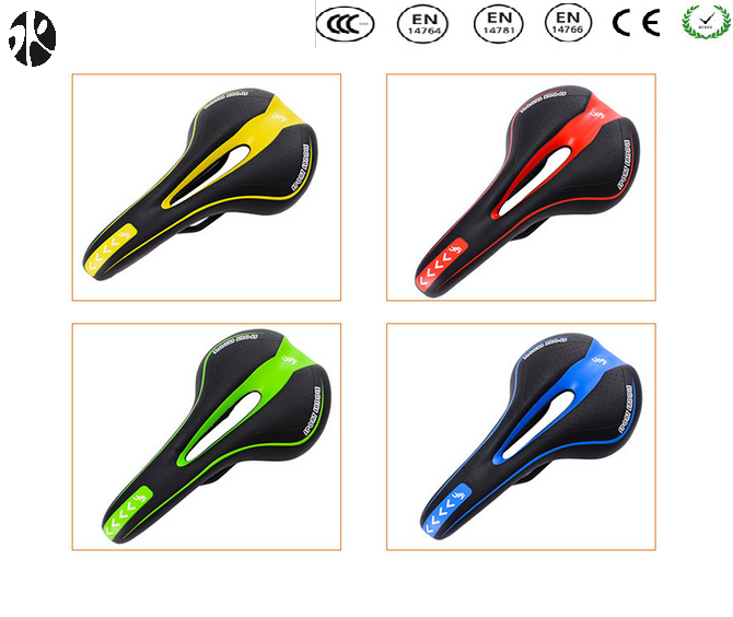 The top and hot selling MTB bicycle saddle leather bicycle saddle seat for sale