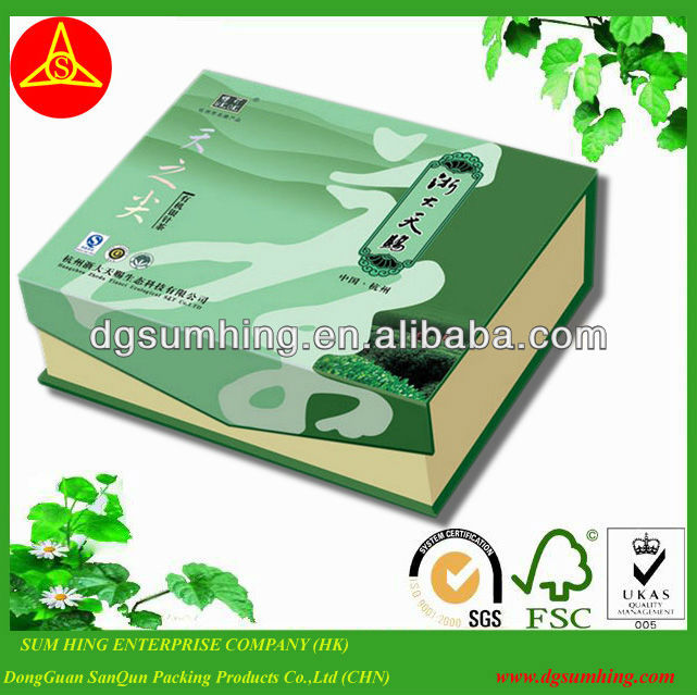 luxury tea book box for wholesale&paper gift box