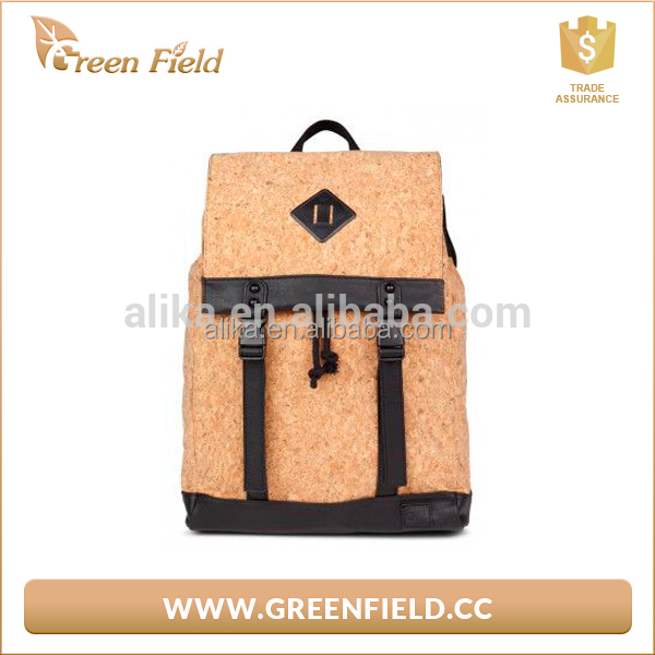 Green Field trendy 2017 cork gift bag cork school backpack