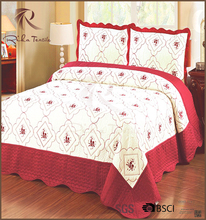 Indian quilted bedspread, fancy bed cover