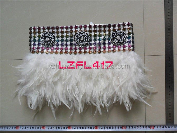 Showgirl/Dance Burlesque Feather Costume Mini Skirt LZFL417