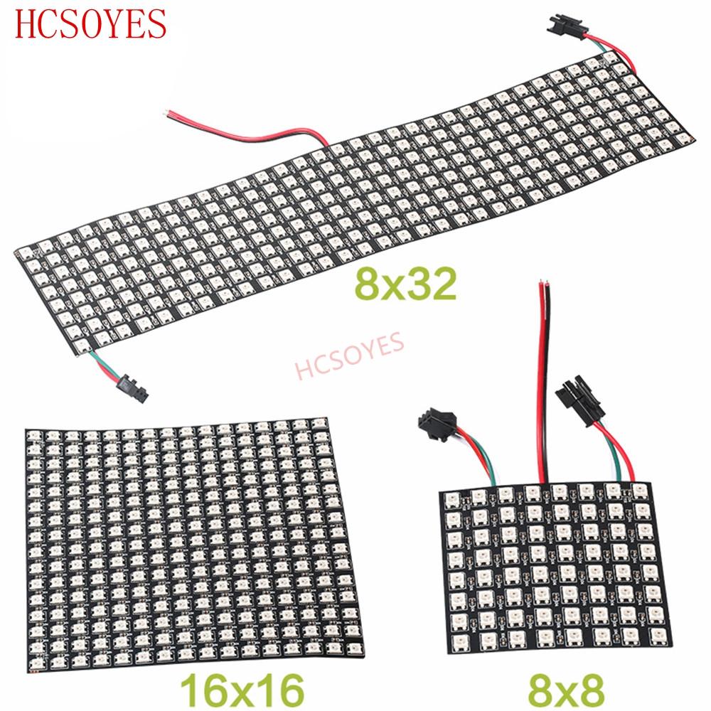 5143# 1 à 5  module 8 LED RGB pixel WS2812 PCB blanc
