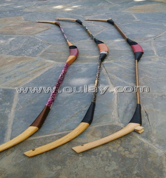 Laminated wood bamboo bows