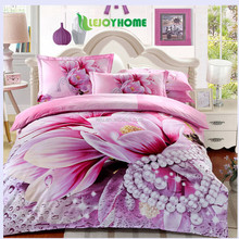 home textile 100% cotton luxury 3d flowers bedding sets buy from China