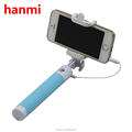Outdoor selfie stick for mobile phone, Colorful Extendable selfie stick Monopod for travel