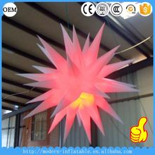 attractive Color changing LED lighted Inflatable star with led lights