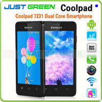 Free Shipping!China Brand Cheap Mobile Phone Coolpad7231 Android 4.2 OS MTK6572 Dual core 1.3GHz