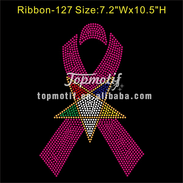 Iron On Heat Transfers Wholeslae Oes Breast Cancer Rhinestone Transfer