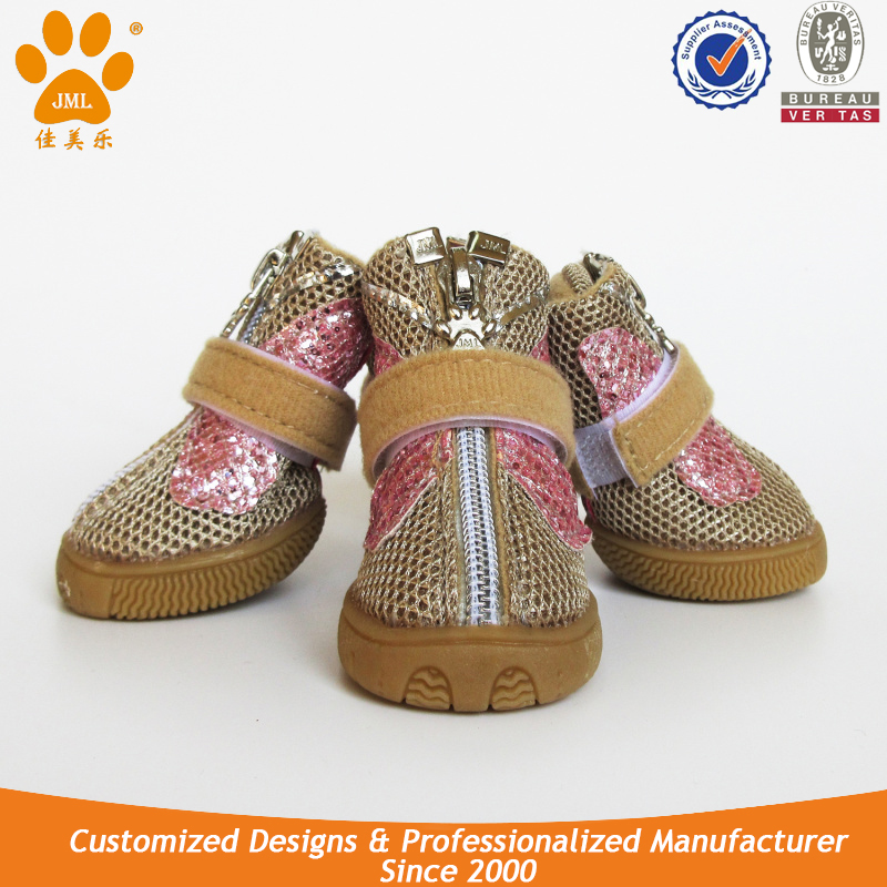 JML New Design Dog Shoes Sneakers for Walking Mesh Pet Protection Shoes
