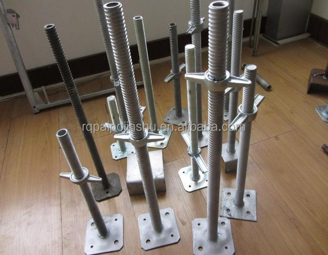 Screw Jacks For Shoring : Scaffolding adjustable screw base jack heavy duty shoring