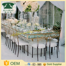 Crystal chandelier style dinning table set modern with chairs