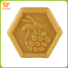 new yellow bee hive silicon mold cake decorating tools Hexagon cake decoration