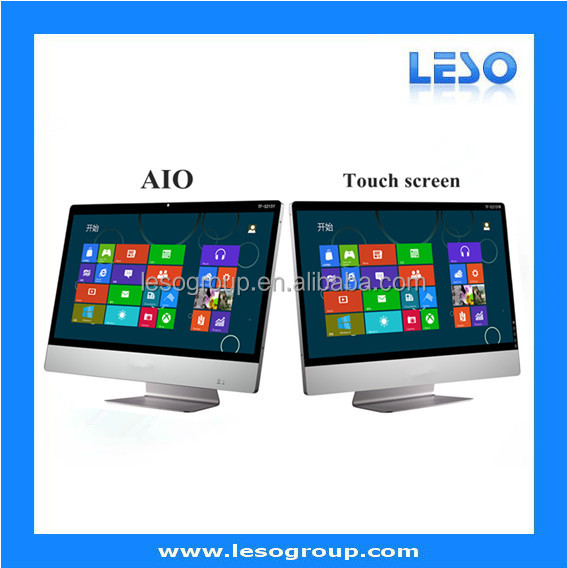 "Best selling 21.5""/32"" inch all in one i7 touch pc used all in one pc flexible touch screen Core Duo I3/i5:I3HGP on board"