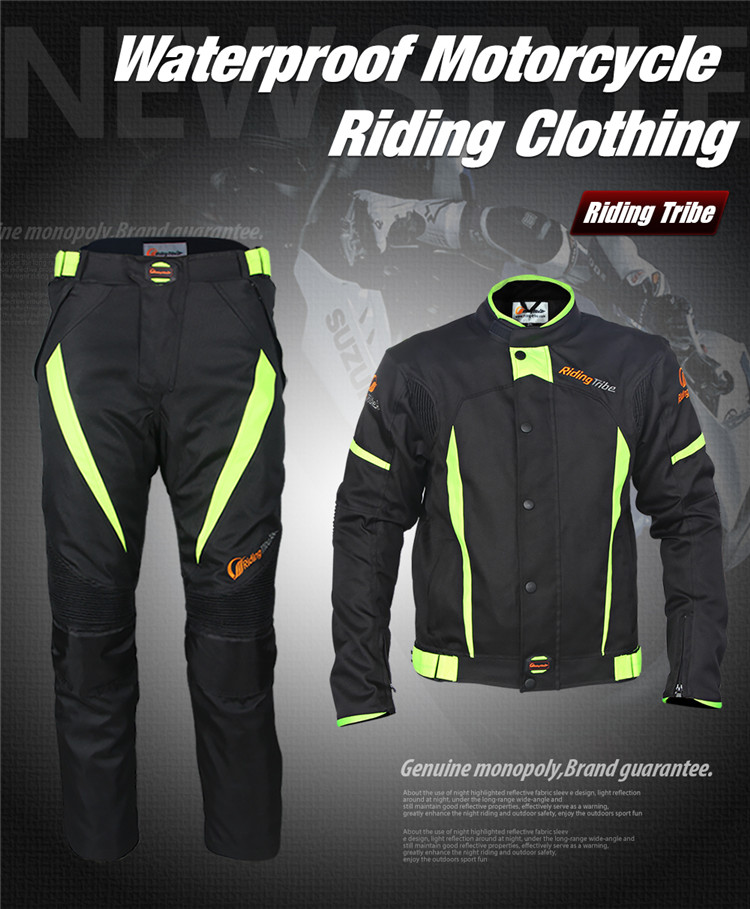 JK37A+HP08A Comfortable apparel Motorcycle Racing wear suit Protector Racing Clothes