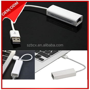 USB 2.0 to 10/100 Fast Ethernet Netweok Adapter Cable