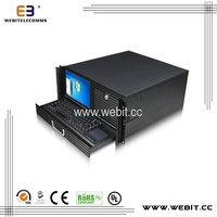 LCD computer box+steel cover 0.8mm thickness+LCD screen computer case