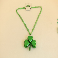 China factory sales cheap shamrock pendant necklace with link chain