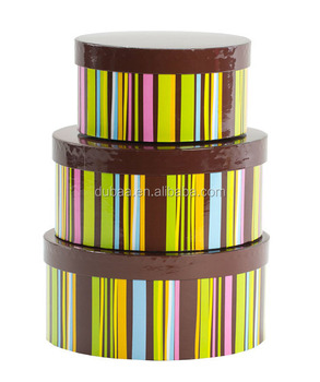 Kid Party 3 Pcs Nested Boxset Choc Stripe