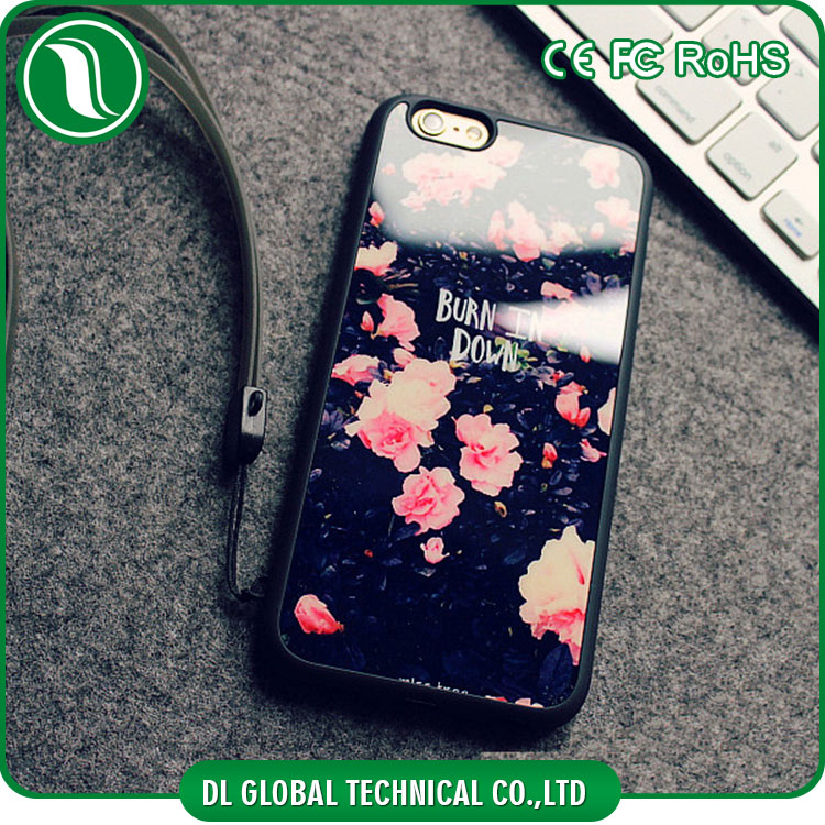 Hot Selling Korea case Soft mirror flower design for iphone 6s plus case cover