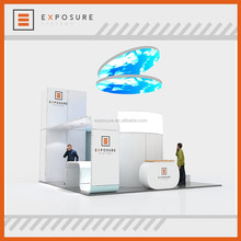 Modern Fabric Aluminium Profile Exhibition Booth