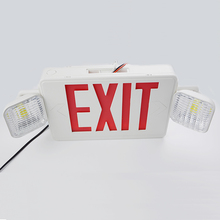 UL CUL listed red green rechargeable exit sign led emergency light emergency lamp