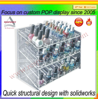 clear acrylic makeup nail polish display case boxes wholesale